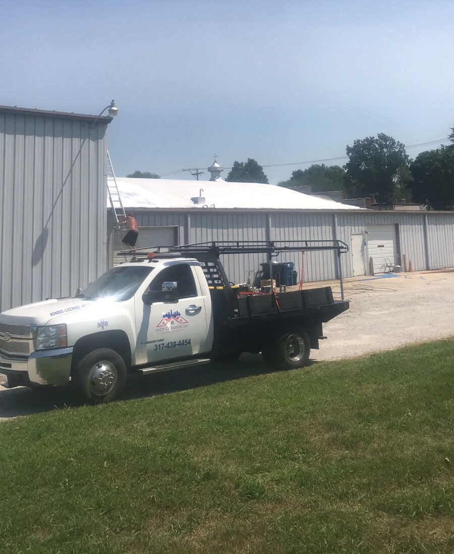 Indy Commercial Roofing Company Truck